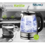 BRUNO BRN-0026 Ηλεκτρικός βραστήρας 2200w, 1.7lt, βάση 360°, LED