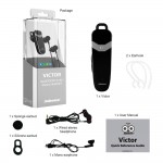 Jabees Victor Music Stereo Receiver 3 in1 Bluetooth Hands Free με Αποσπώμενα Ακουστικά, Multi Pairing Μαύρο-Ασημί