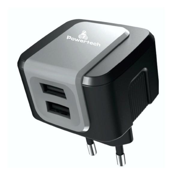 POWERTECH PT-505 Φορτιστής 2x USB 2.4A Black